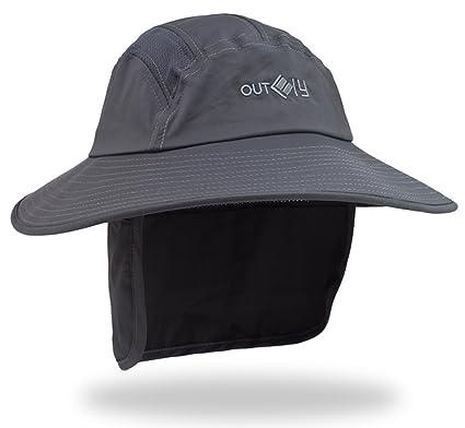 34b970235ad8 Hommes Chapeau de Soleil Large Bord 360° Protection Solaire Casquette  Visière Légionnaire UPF 50+