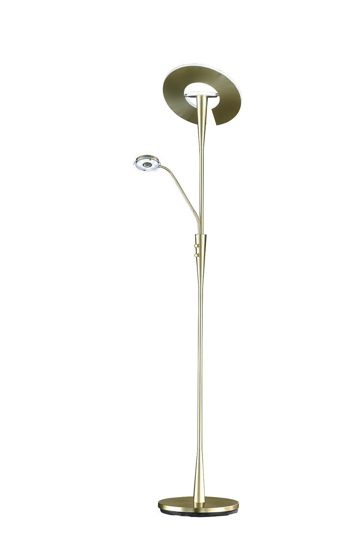 Moderne LED Standlampe mit Deckenfluter und flex Lesearm DIMMBAR aus Metall