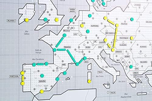 Mapnético Mapa de Europa magnético de diseño con imanes. Planifica Tus Viajes. 60×42 cm: Amazon.es: Hogar