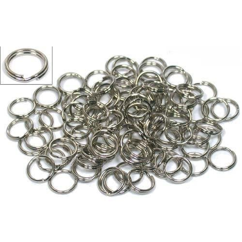 Small Split Ring (100 Nickel Plated Split Ring Chain Parts Findings)