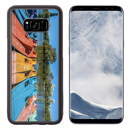 Luxlady Samsung Galaxy S8 Plus S8+ Aluminum Backplate Bumper Snap Case IMAGE ID 25631594 Colorful boats on Parque Tres de Febrero also known as the Bosques Palermo Woods a 400 - City Pa Capital