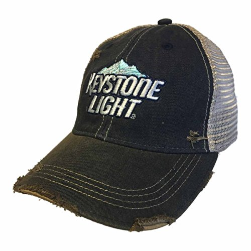 Keystone Light Brewing Company Retro Brand Vintage Mesh Adjustable Beer Hat Cap