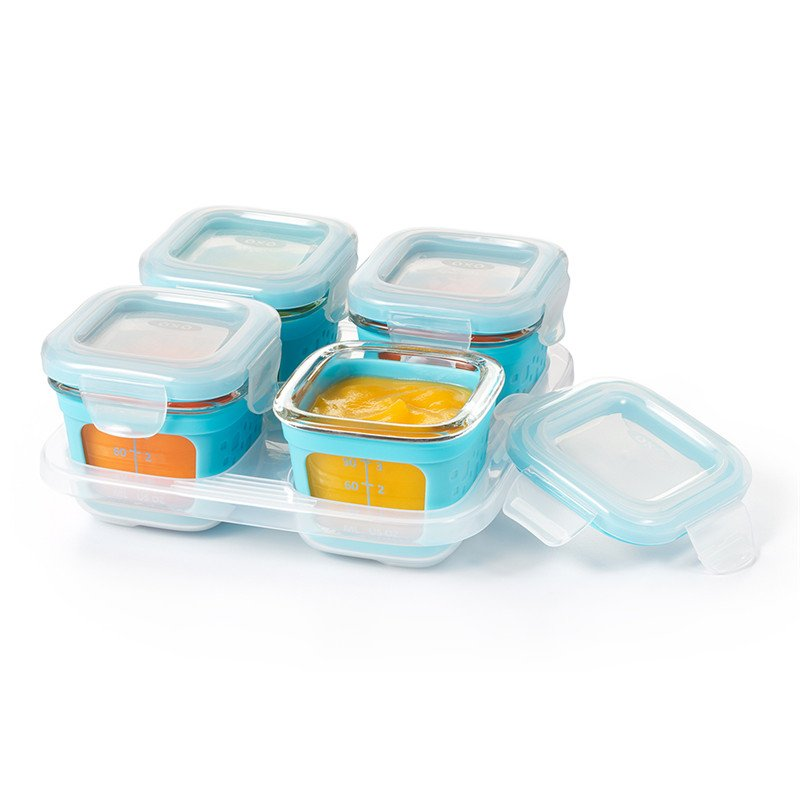 Oxo Tot Glass Baby Blocks Food Storage Containers With