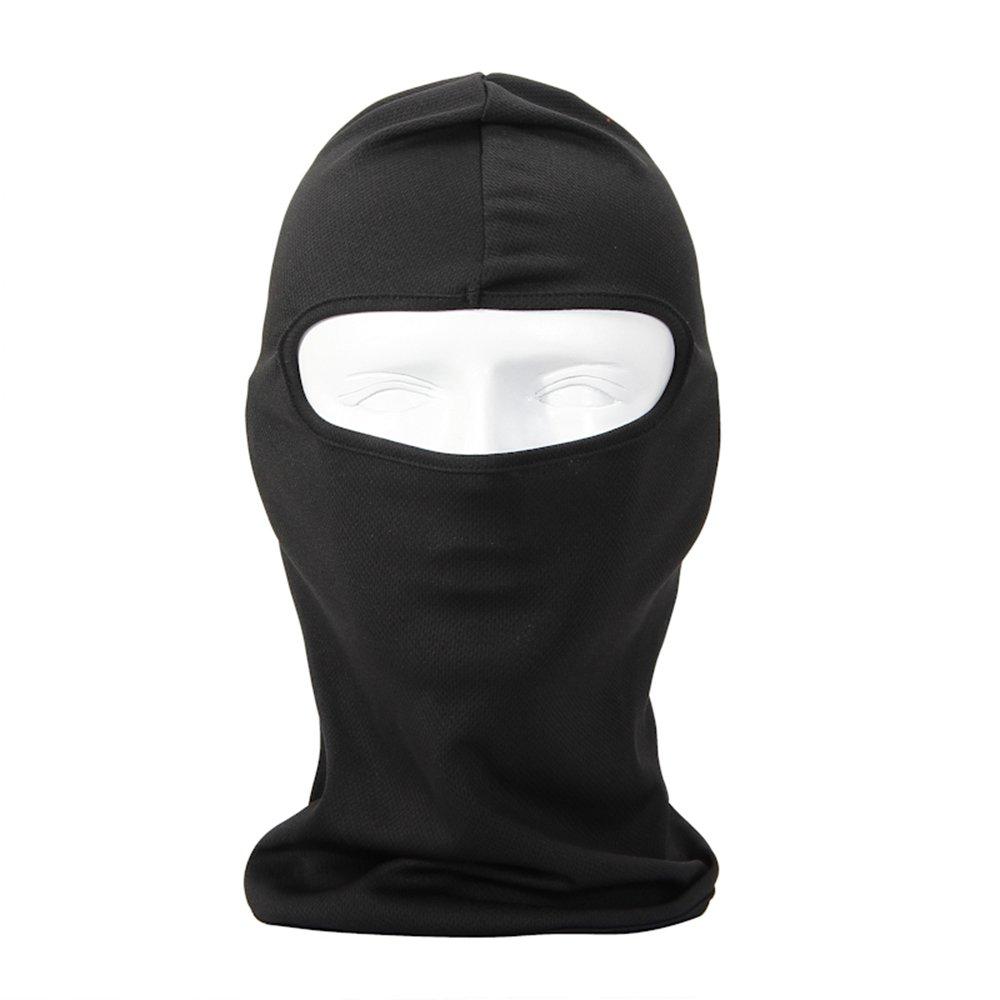 NewNow Candy Color Ultra Thin Ski Face Mask Great Under A Bike/Football Helmet Balaclava-Black
