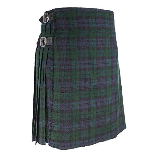 """Best Kilts Men's Traditional Scottish 5 Yard Black Watch Tartan Kilt 30""""-32"""" -"""