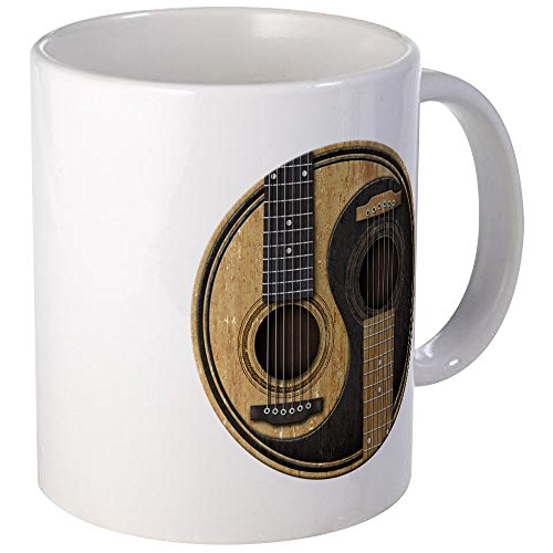 CafePress Old And Worn Acoustic Guitars Yin Yang Mugs Unique Coffee Mug, Coffee Cup ()