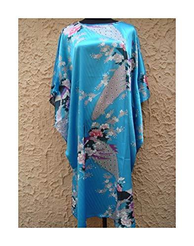 blu Primavera Pavone Il 175Cm Libero Lilla 155 Colore Autunno Signora lago GAOHUI Stampa Accappatoio Comfort Uniforme Tempo Accappatoio Di Seta Codice qRTwUtY