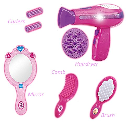 Liberty Imports Vogue Girls Beauty Salon Fashion Play Set with Hairdryer, Mirror & Styling Accessories by Liberty Imports (Image #2)