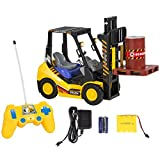 Marketworldcup-Kids Toy RC Remote Control Forklift With Lights, 6 Channel Electric Kids Toy RC