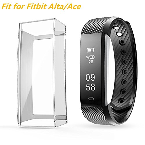 Cover Ace (Case for Fitbit Alta HR/Ace, Belyoung Soft TPU Slim Fit Full Cover Screen Protector for Fitbit Alta HR and Ace)