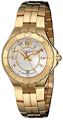 TechnoMarine Women's 714003 Sea Pearl Analog Display Swiss Quartz Gold Watch