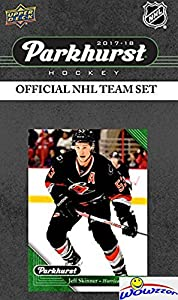 Carolina Hurricanes 2017/18 Upper Deck Parkhurst NHL Hockey EXCLUSIVE Limited Edition Factory Sealed 10 Card Team Set including Jeff Skinner, Cam Ward & all the Top Stars & RC's! WOWZZER!