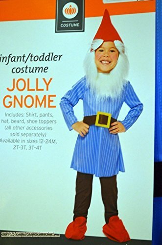Infant/toddler Jolly Gnome Costume Set Size 3T - 4T -
