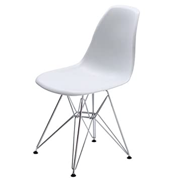 set of 4 replica eames dsr side chair ruzzini dining chair white
