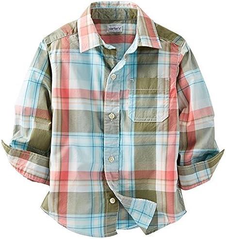 Bebé Niños botón abajo camisa de Carter (Baby) – verde ...