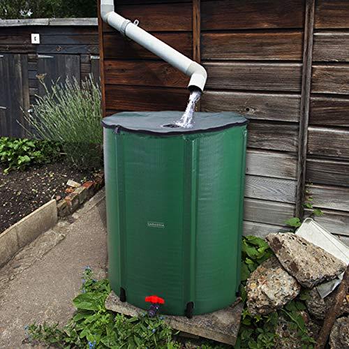 SABADIVA Rain Barrel Water Tank | 100 Gallon Water Tank Rainwater Collection System Rain Barrel Kit Water Storage Tank Rain Water Storage