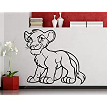 Simba Lion King Wall Decal Simba Pumbaa Timon Scar Vinyl Sticker Home Nursery Kids Boy Girl Room Interior Art Decoration Any Room Mural Waterproof Vinyl Sticker (216xx)