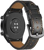 SPGUARD - Correa de Piel Compatible con Huawei Watch GT