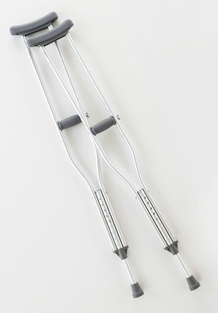 Cardinal Health CA901AD Axillary Crutch, Adult, Height 62-70 in, Adjustable