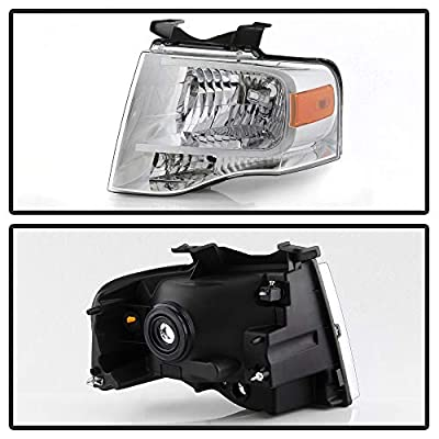 ACANII - For 2007-2014 Ford Expedition Headlights [OE Factory Style] 07-14 Replacement Headlamps Driver + Passenger Side: Automotive