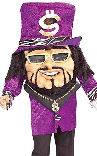 Forum Novelties Men's Parade Pleasers Big Dollar Daddy Big Head Costume, Multi, (Big Daddy Adult Pimp Costumes)