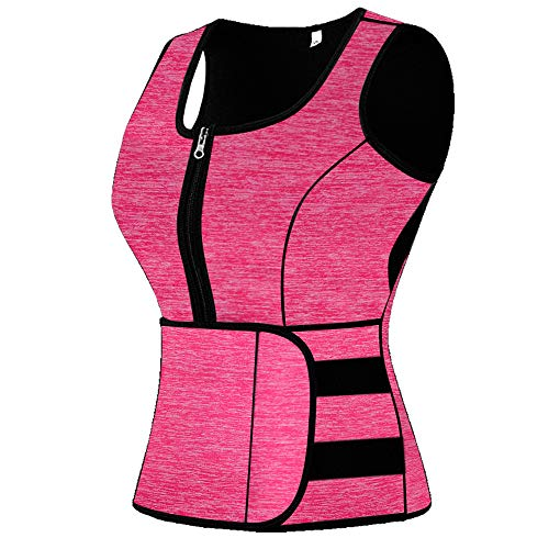 mpeter Sweat Vest for Women, Slimming Body Shaper, Weight Loss (Light Pink, Large)