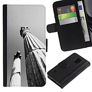 KingStore / Leather Etui en cuir / Samsung Galaxy S5 V SM-G900 / Pilares Arquitectura Antigua Roma
