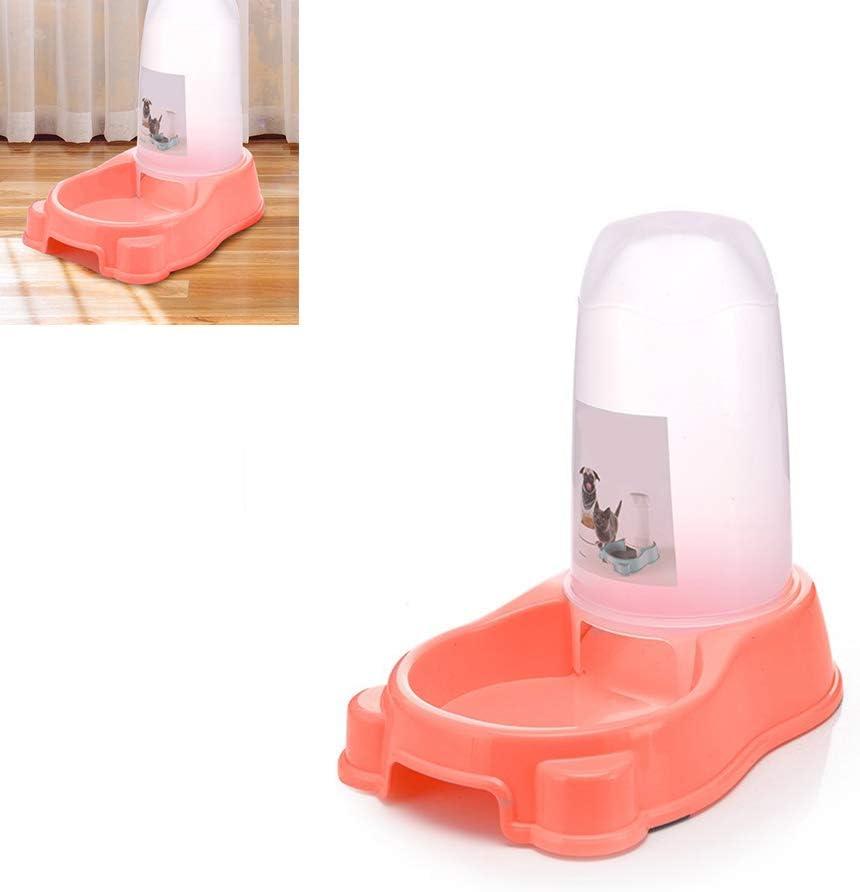 AAGOOD Dispositivo de alimentación del Perro casero automático del alimentador del alimento del dispensador del Agua Universal para Varios Perro de tamaño y el alimentador de Comida para Gatos (Rosa): Amazon.es: Productos