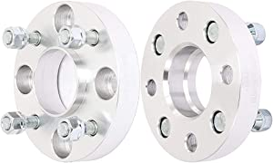 ECCPP 5 lug Hubcentric Wheel Spacers 4x114.3mm 25mm 4x114.3 to 4x114.3 4x4.5 to 5x4.5 66.1mm CB 12x1.25 Studs Fits for Nissan Primera Maxima Cube Axxess Altima 300zx