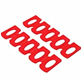 LONG TAO 2PCS Red Silicone Wine Stacker Foldable Beer Can Rack...