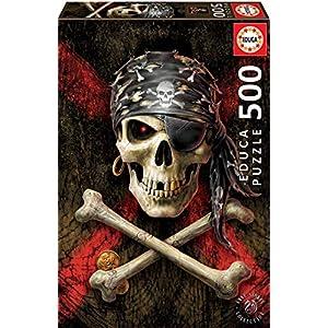 Educa Borras 500 Teschio Pirata Puzzle Multicolore 17964