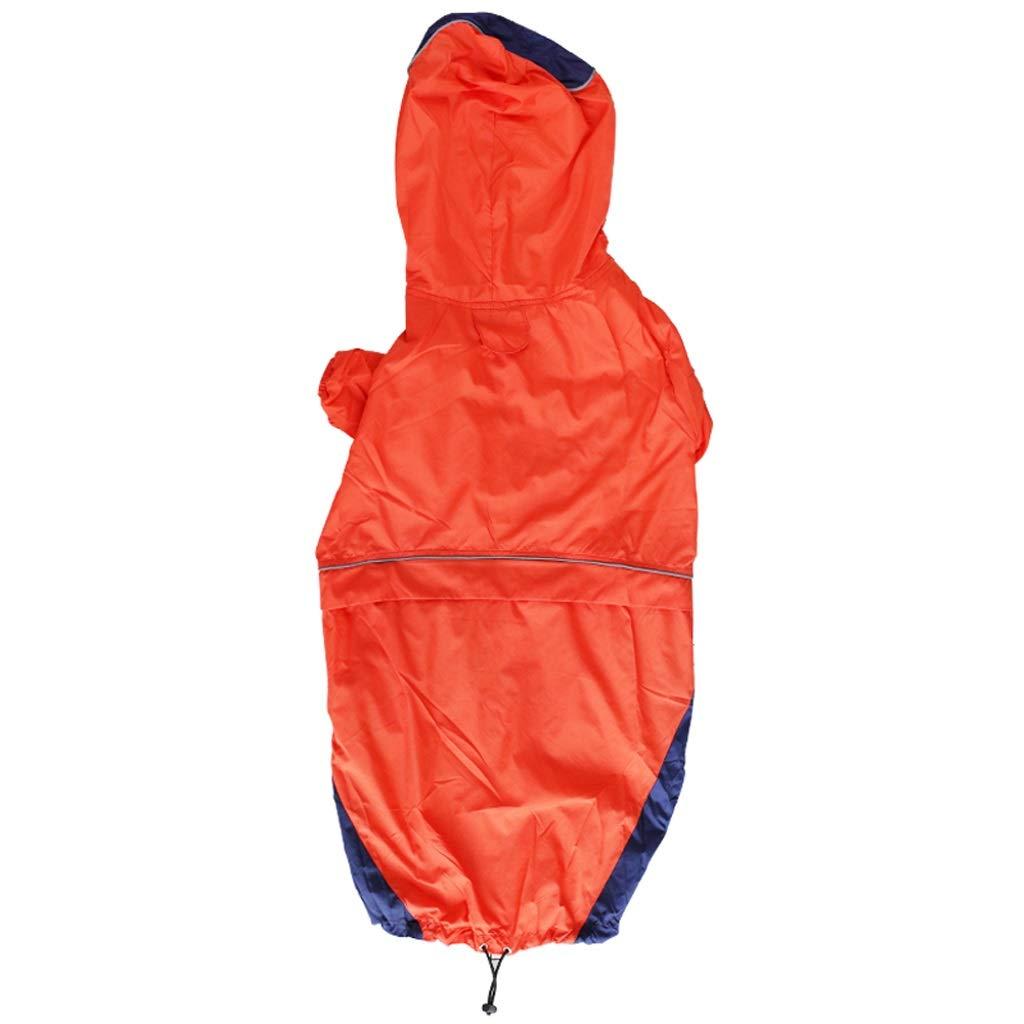 orange S orange S LSLMCS Pet Supplies Pet Raincoat Suitable for golden Hair Medium Large Dog Labrador Half Pack Two Feet Pet Waterproof Dog Clothes,Green,orange,Yellow(S-L) (color   orange, Size   S)