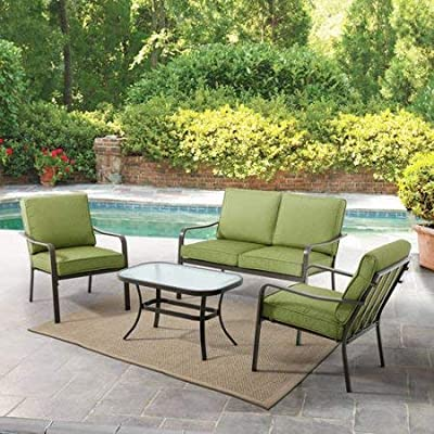 Mainstays' Stanton Cushioned 4-Piece Patio Conversation Set, Seats 4