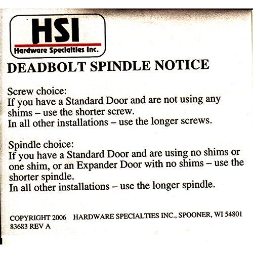 Storm Door Hardware Lever 2 Piece Surface Mount Oil Rubbed Bronze 3/4 Inch Thick Door by Hardware Specitalies, Inc (Image #3)
