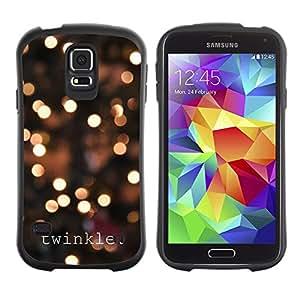LASTONE PHONE CASE / Suave Silicona Caso Carcasa de Caucho Funda para Samsung Galaxy S5 SM-G900 / Lights City Text Bright Night Blur
