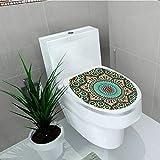 Printsonne Bathroom Removable PVC chitectural Glazedative Wall Tile Ceramic Historical Travel Destinatis Vinyl Removable Bathroom W12 x L14