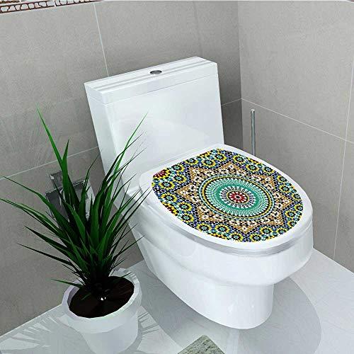 Printsonne Bathroom Removable PVC chitectural Glazedative Wall Tile Ceramic Historical Travel Destinatis Vinyl Removable Bathroom W12 x L14 by Printsonne