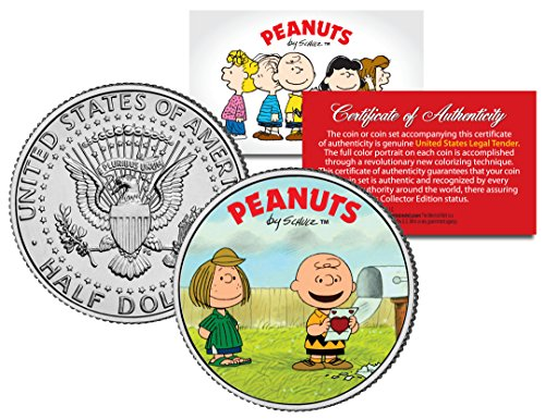 Peanuts VALENTINE'S * Charlie Brown & Peppermint Patty * JFK Half Dollar US Coin (Patty Valentine)