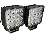 "SiteLites 4"" LED Light, 2 Pack 48W 3000LM 60° White LED Flood Beam Light Heads for Off-Road and Outdoor Applications"