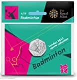 London 2012 50p Sports Collection - Badminton by Royal Mint