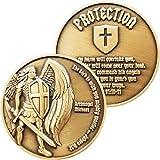 Archangel Saint Michael, Antique Gold Plated