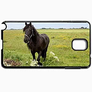Personalized Protective Hardshell Back Hardcover For Samsung Note 3, Horse Design In Black Case Color
