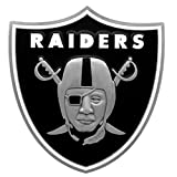 Siskiyou NFL Oakland Raiders Large Logo Hitch Cover, Class II & III