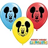 "Mickey Mouse Face Assorted 5"" Qualatex Latex Balloons x 10"