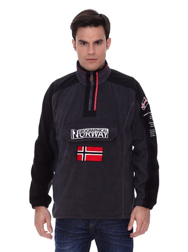 Geographical Norway Giacca in Pile Tim Grigio/Nero S