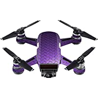 Skin For DJI Spark Mini Drone – Purple Diamond Plate | MightySkins Protective, Durable, and Unique Vinyl Decal wrap cover | Easy To Apply, Remove, and Change Styles | Made in the USA