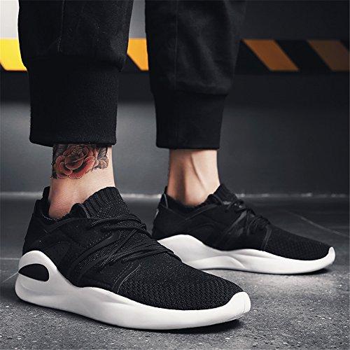 Athlétique Confort de Printemps Noir Chaussures Tricot Hommes Vert Chaussures Athlétique GLSHI Marcher À Chaussures Rouge Antidérapant Black Lacets Respirant Pour Automne Chaussures Course tXqT6x11w