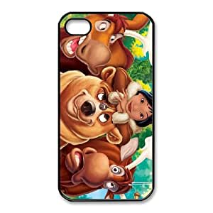 Durable Rubber Cases iPhone 4,4S Cell Phone Case Black Wpzqv Brother Bear Protection Cover