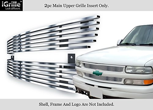 APS 304 Stainless Steel Billet Grille Fits 99-02 Chevy Silverado (Silverado Stainless Steel Billet Grille)