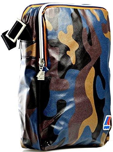Borsa Borsello Uomo Donna Tracolla K-Way Bag Men Woman K.Camouflage Medium Ammo K1A06-Blu